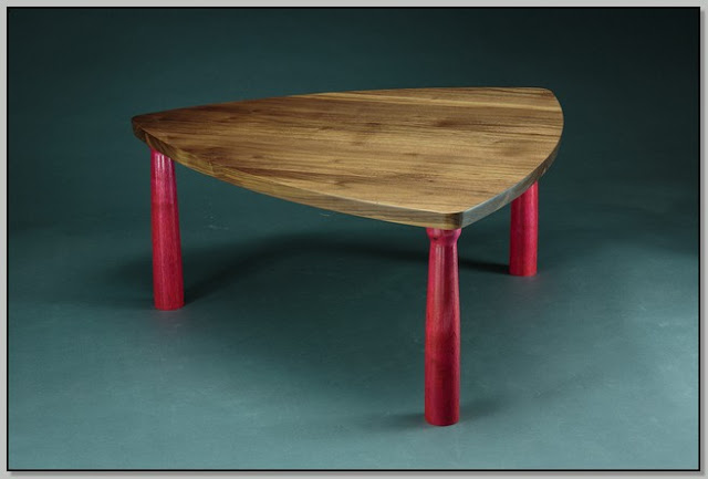 Triangle Coffee Table Wood