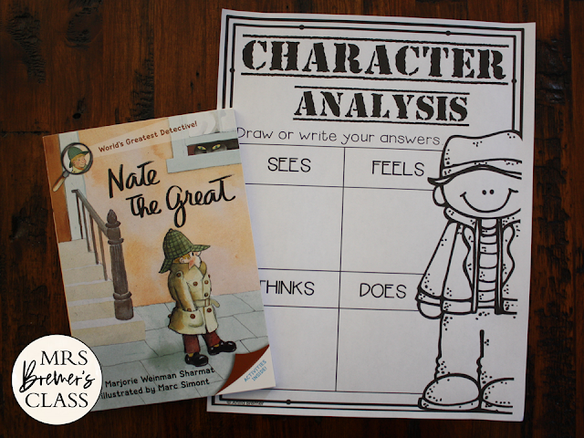 Nate the Great book study unit Common Core literacy companion activities for 1st and 2nd