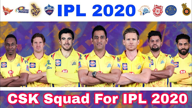 IPL 2020 CSK Squad