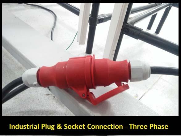 industrial plug and socket three phase