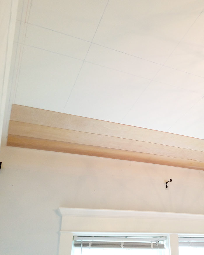 thin plywood or underlayment ceiling installation