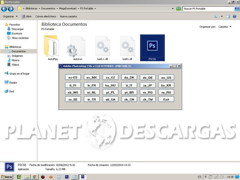 descargar photoshop cs6 portable en español 1 link