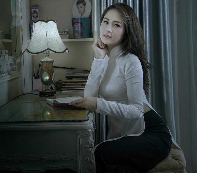 Tuyển tập girl xinh gái đẹp Việt Nam mặc áo dài đẹp mê hồn #103
