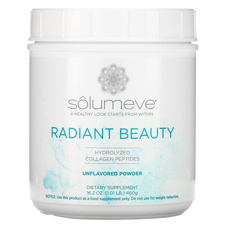 Solumeve, Radiant Beauty, пептиды гидролизованного коллагена, порошок с нейтральным вкусом, 460 г (16 унций, 1 фунт)
