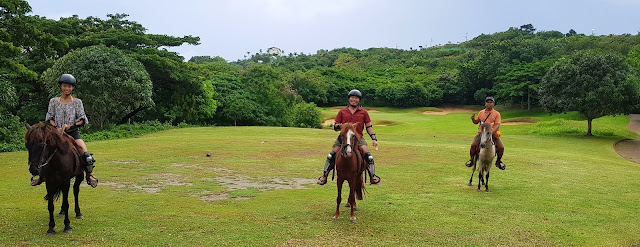 A trio of jolly horse-back riders at the golf course of Fairways and Bluewater in Boracay Island || GREGG YAN