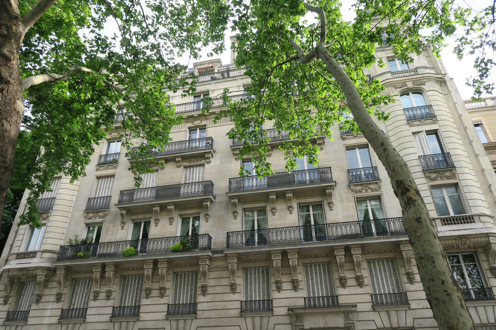 A block of traditional Parisian apartments from our trip to Paris