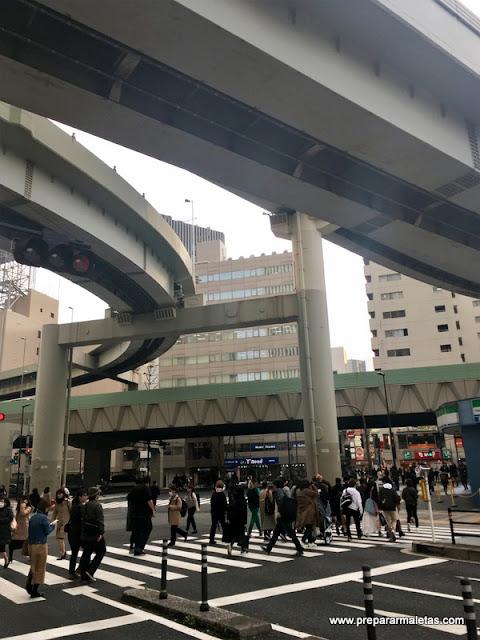 cruces de calle en Ikebukuro Tokio