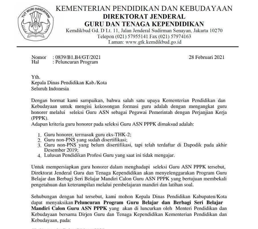Persyaratan Kriteria Guru Honorer Calon PPPK Tahun 2021