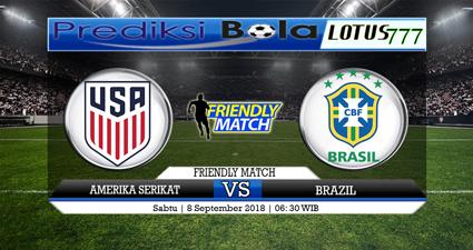 PREDIKSI AMERIKA SERIKAT VS BRAZIL 8 SEPTEMBER 2018