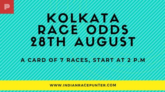 Kolkata Race Odds 28 August