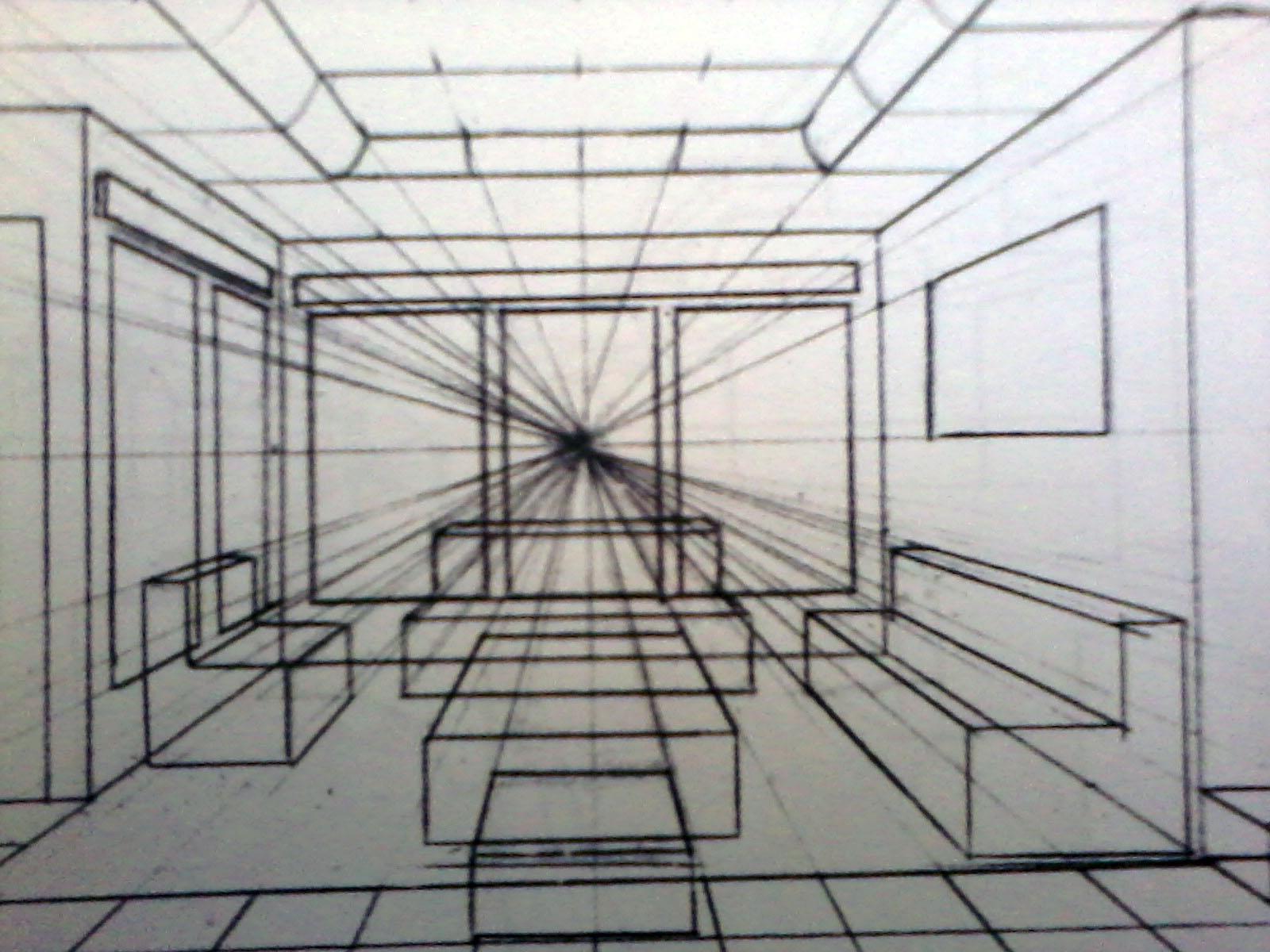 Perspektif Satu Titik Hilang Dunia Seni