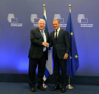 Presidente de Israel em Bruxelas: Relações Israel-UE independem de acordo de paz