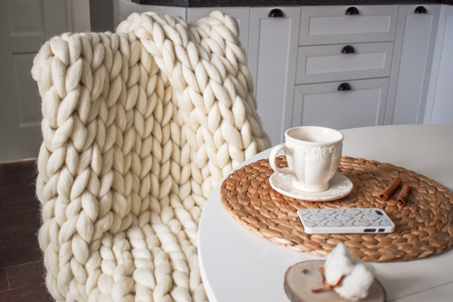 cosy blanket, cosy knit blanket, big wool knit blanket
