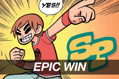 scott pilgrim yes epic win cinergetica ganadores - Felicidades a nuestra ganadora Honga Rex