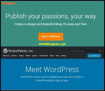 Blogger Aur WordPress