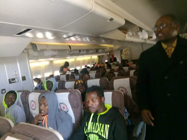 Photos: First batch of 481 Nigerian trapped in Libya on their way back home