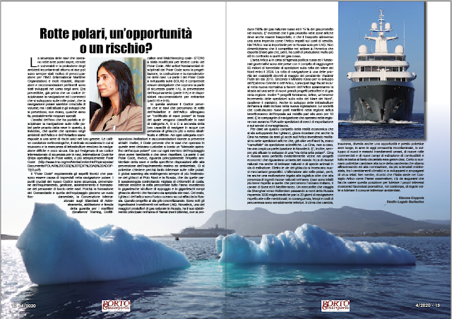 APRILE 2020 PAG. 12 - Rotte polari, un'opportunità o un rischio?