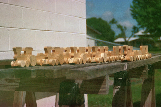 Handmade Wood Toy Trains Designed by Norm Marshall