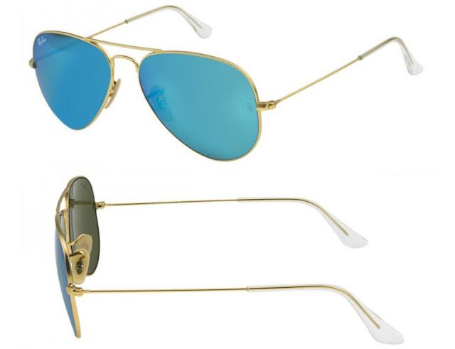 Ray-Ban Aviator Azul Espelhado