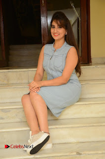 Actress Manjusha Pictures in Short Dress at Dora Movie Audio Launch  0079