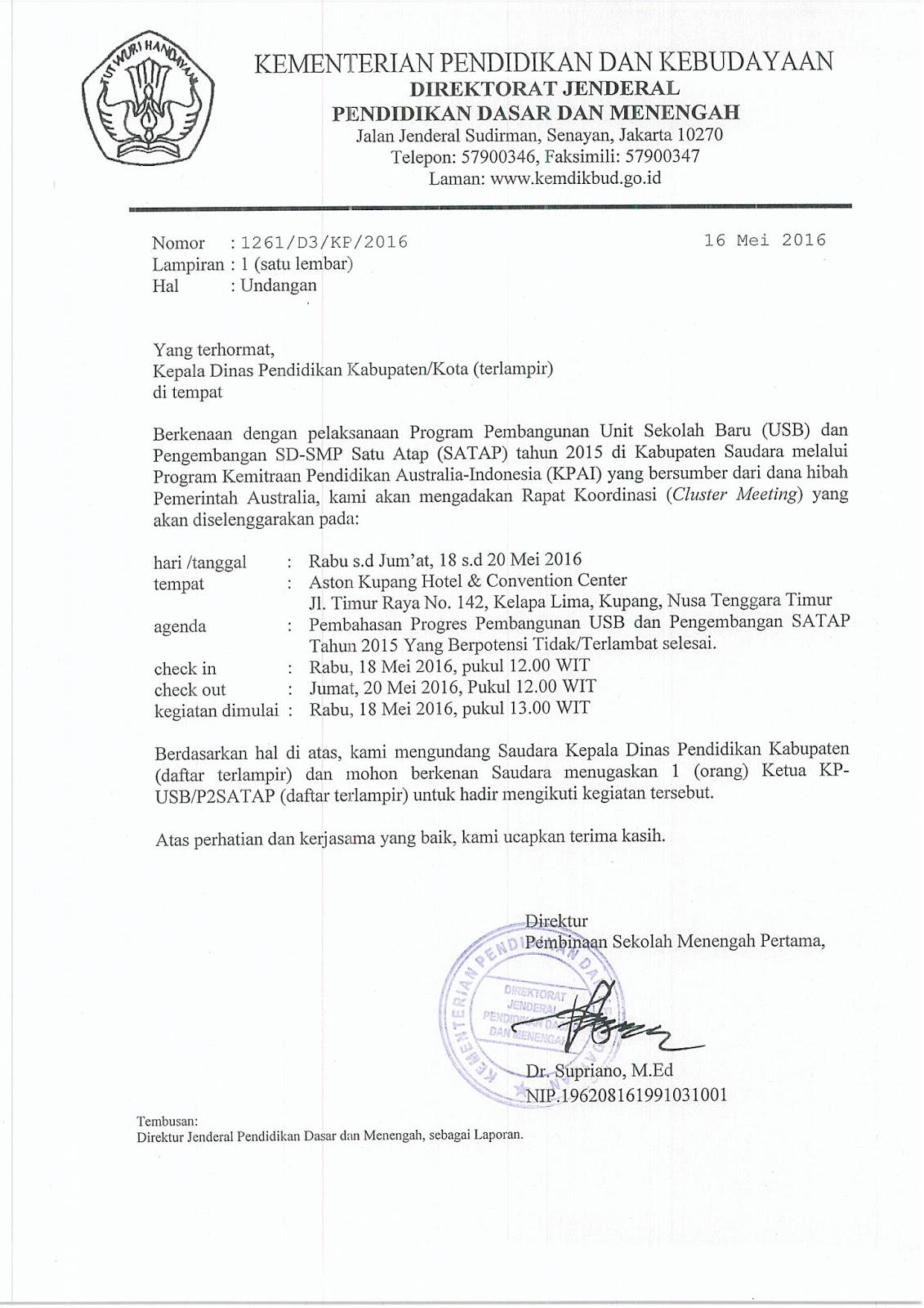 Contoh Surat Dinas Tentang Undangan Osis - Surat 6
