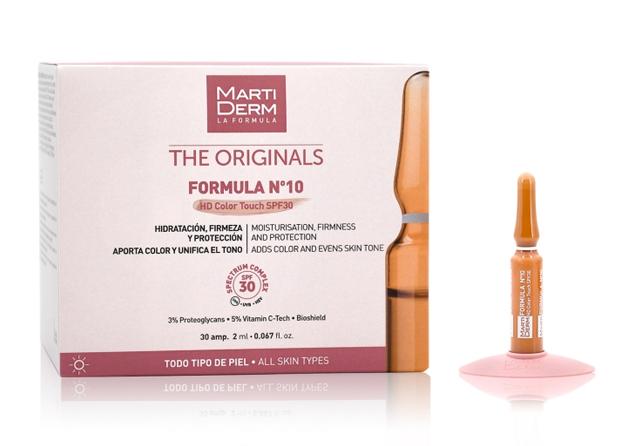 Fórmula Nº 10 de MartiDerm: ampollas con SPF 30 y color