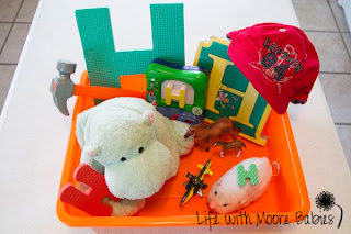 How to Make a Letter H Sensory Bin
