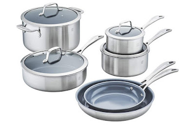 Zwilling Spirit 3-Ply 10-Piece Ceramic Cookware Set