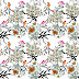 Garden Flower Plants Textile Repeat Design 20082