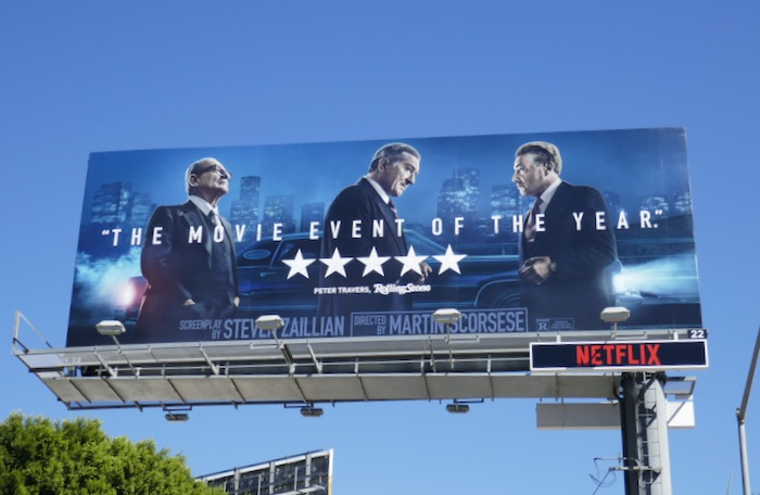 Irishman movie billboard
