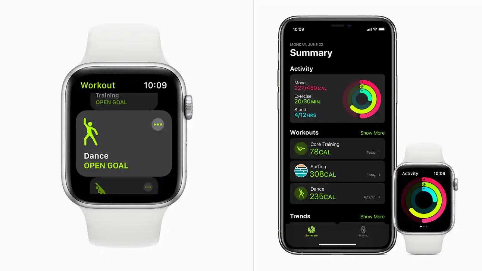Apple Watch 舞蹈訓練如何正確計算動作和卡路⾥消耗量