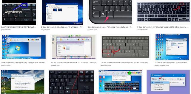 Tutorial Cara Screenshot Tangkapan Layar di Laptop atau PC