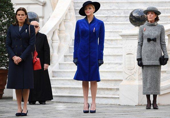 Princess Charlene, Princess Caroline, Charlotte, Pierre Casiraghi, Beatrice Borromeo, Tatiana, Princess Gabriella