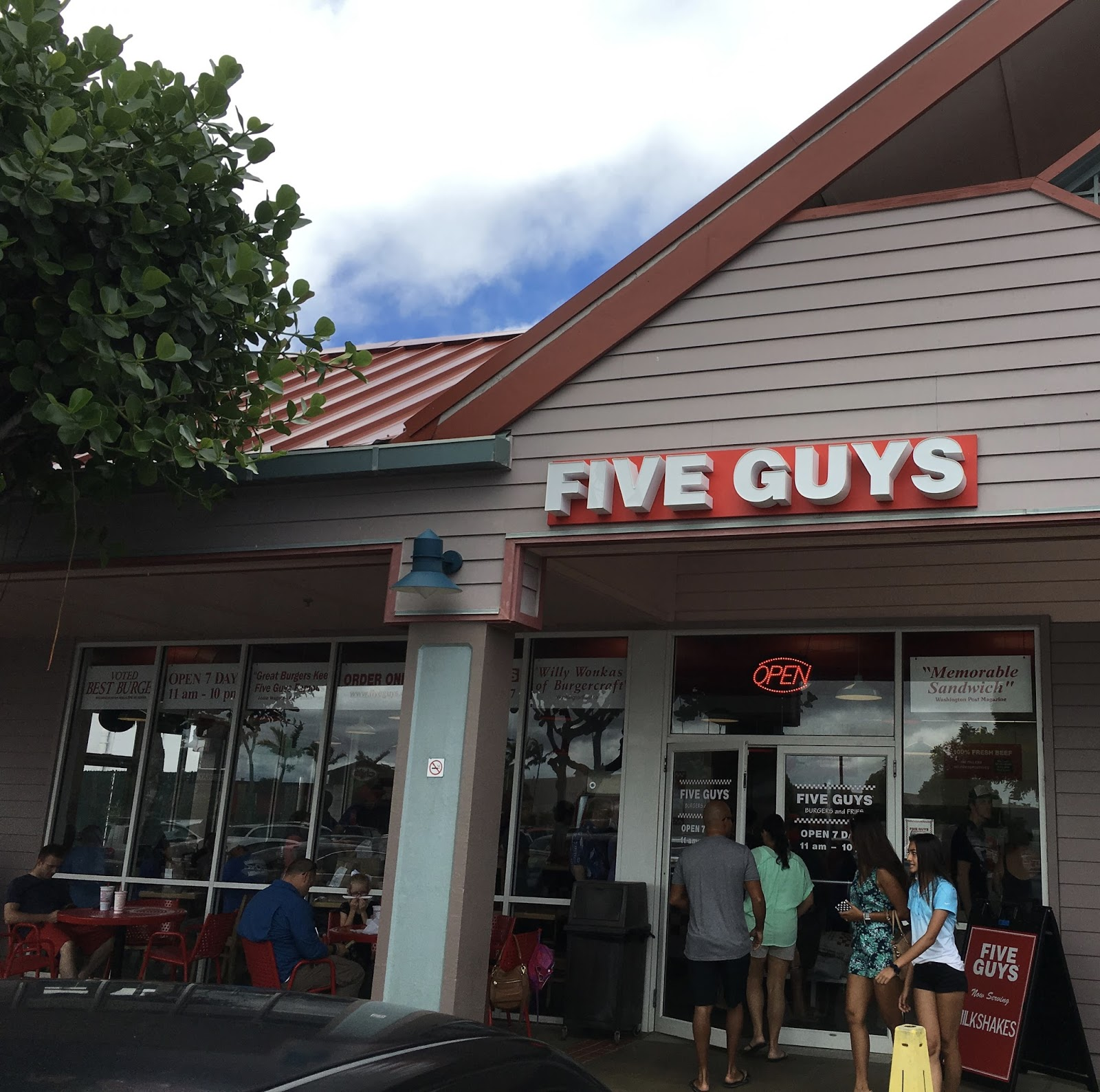 mililani guys Five guys burgers and fries space: f1 fresh is the word that most describes five guys made-to-order burgers with over 250,000 ways to customize your burger.