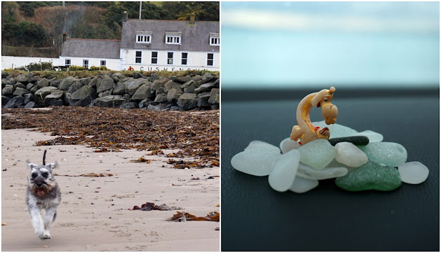 Cushendun beach and some sea glass - Carrie Gault