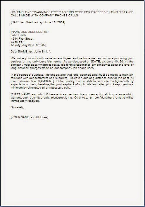 Warning Letter For Misuse Of Company Property