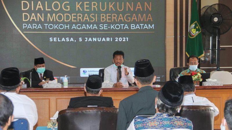 Dialog Bersama Tokoh Agama, Rudi Ajak Warga Jaga Batam Aman dan Damai