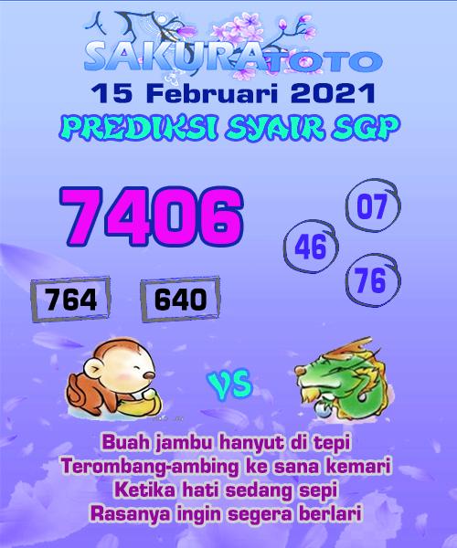 Syair Sakuratoto SGP Senin 15 Februari 2021