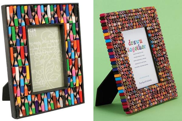 рамка для фото из цветных карандашей