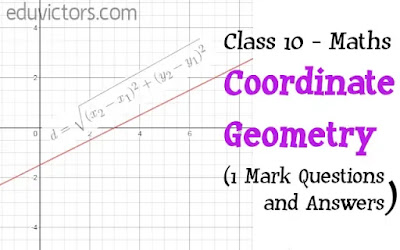 CBSE Class 10 - Maths - Coordinate Geometry (1 Mark Questions and Answers)(#eduvictors)(#class10maths)(#cbse2020)