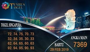 Prediksi Togel Singapura Sabtu 29 February 2020