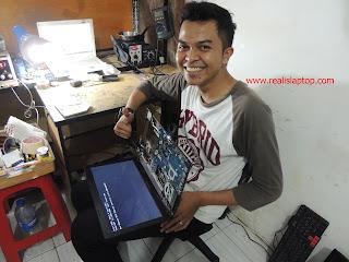 Service Laptop Lenovo G405 Processor Rusak