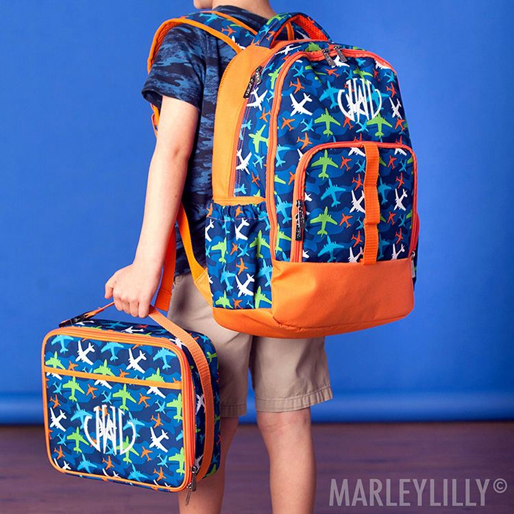 Personalized Kids' Utility Backpack and Pocket Lunchbox