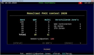 Resultaten PACC 2020 PA3GNZ