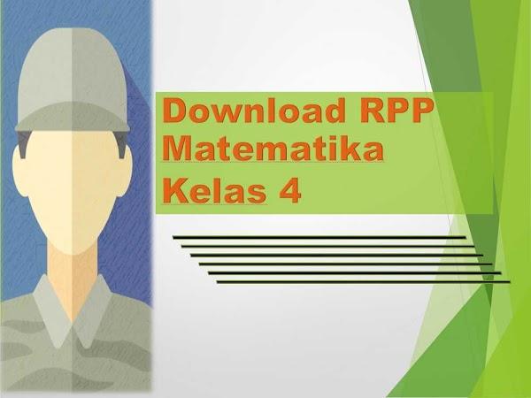 RPP Matematika Kelas 4 SD/MI Kurikulum 2013 Revisi 2018