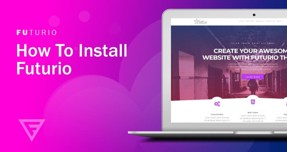 Install Futurio WordPress Theme