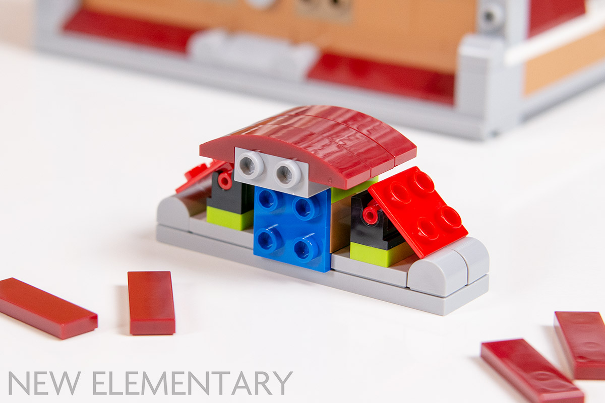 LEGO Red PLATE 1x1 with Top Clip on Top Tiles