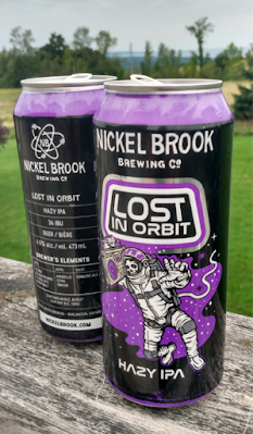 Lost In Orbit beer cans front and back