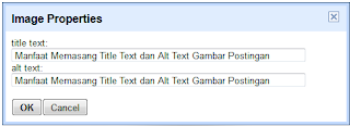 Manfaat Memasang Title Text dan Alt Text Gambar Postingan