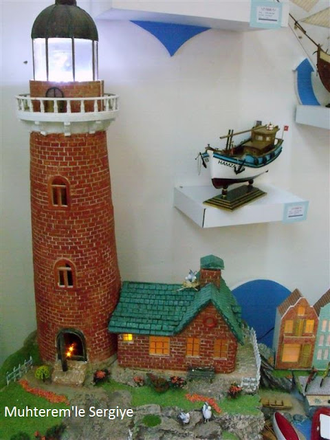 Model sea lighthouse